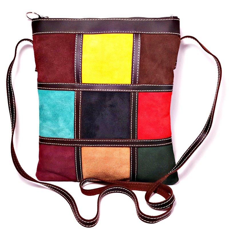 Bolso bandolera serraje de colores