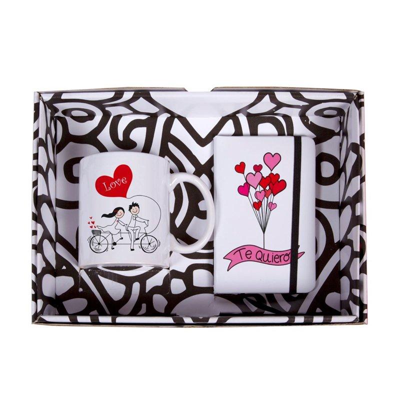 "Pack regalo taza y libreta ""TANDEM OF LOVE"""