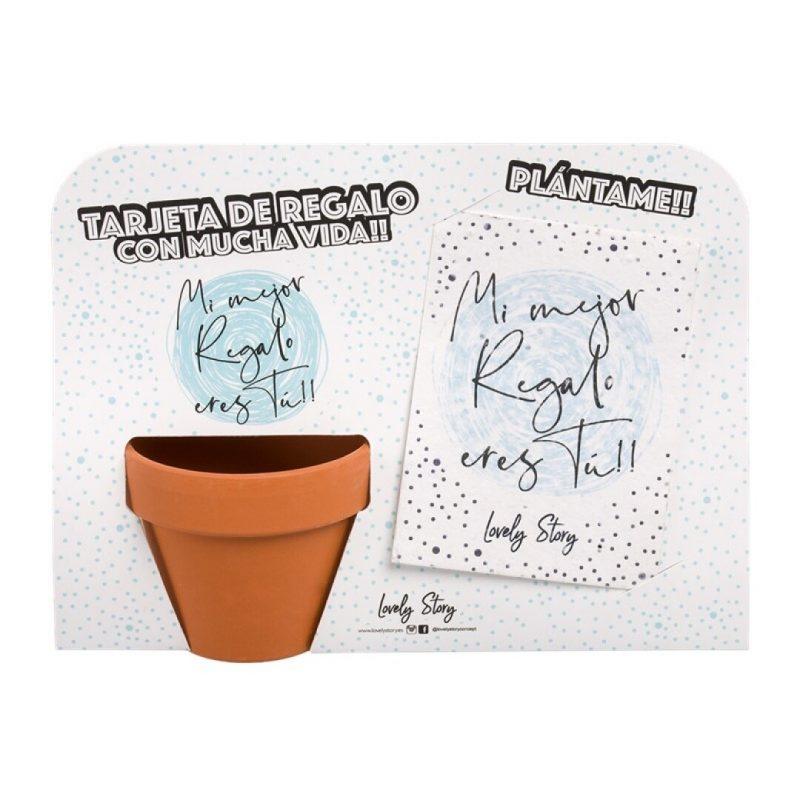 "Tarjeta de regalo para plantar con macetita ""Mi mejor regalo eres tú"" | Lovely Story"